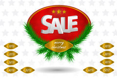 Simbolo di vendita di Natale Immagine Stock