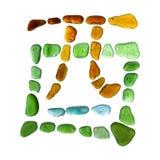 Simbolo di vetro del mare Fotografie Stock