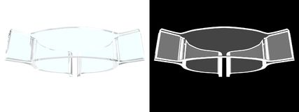 Simbolo di vetro della vescica con fondo bianco fotografia stock