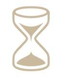 Simbolo di vetro di ora Fotografia Stock