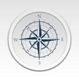 Simbolo di vettore della bussola della rosa dei venti con ombra Fotografie Stock