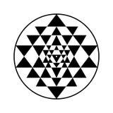 Simbolo di vettore di Sri Yantra illustrazione vettoriale