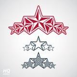 Simbolo di vettore eps8union Elemento festivo con le stelle, modello di lusso decorativo di progettazione Fotografia Stock Libera da Diritti