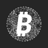 Simbolo di vettore di tecnologia del bitcoin Fotografia Stock Libera da Diritti