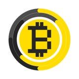 Simbolo di vettore di tecnologia del bitcoin Fotografia Stock
