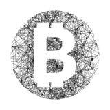 Simbolo di vettore di tecnologia del bitcoin Immagini Stock Libere da Diritti