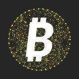 Simbolo di vettore di tecnologia del bitcoin Fotografie Stock