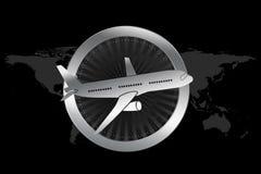 Simbolo di viaggio/aereo/linea aerea nello stile di lusso Fotografie Stock Libere da Diritti