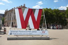 Simbolo di Vienna Festweek 2012 Fotografia Stock