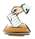 Simbolo di voto 2 Fotografia Stock