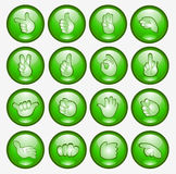 Simbolo di Web dell'icona della mano della barretta del tasto Immagini Stock