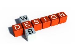 Simbolo di web design Fotografie Stock