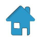 Simbolo di web di Home Page Fotografia Stock