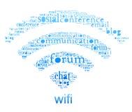 Simbolo di Wifi Fotografia Stock