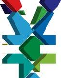 simbolo di Yen 3D illustrazione di stock