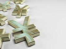 Simbolo di Yen giapponesi Fotografia Stock