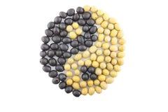 Simbolo di yin yang fatto dal nero e dall'oliva verde Royalty Illustrazione gratis