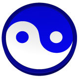 Simbolo di Yin Yang rappresentazione 3d Fotografia Stock Libera da Diritti