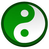 Simbolo di Yin Yang rappresentazione 3d Immagini Stock Libere da Diritti