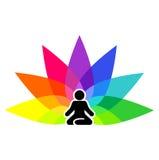 Simbolo di yoga per il logotype Immagine Stock Libera da Diritti