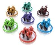 Simbolo differente 3D dei gruppi Immagini Stock