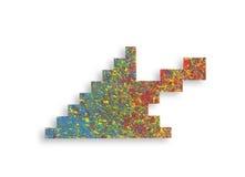 Simbolo dipinto variopinto della freccia del computer Fotografia Stock