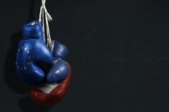 Simbolo, diplomazia fra la Russia e l'UE fotografie stock libere da diritti