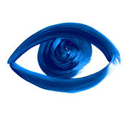 Simbolo disegnato a mano dell'occhio icona dipinta dell'occhio Fotografie Stock Libere da Diritti