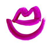Simbolo disegnato a mano delle labbra icona dipinta della bocca Immagini Stock