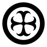 Simbolo dokonstantinovsky del monogramma trasversale dell'icona trasversale religiosa del segno di speranza dell'ancora dell'apos illustrazione di stock