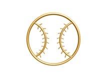 Simbolo dorato di baseball Immagini Stock