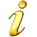 simbolo dorato di informazioni 3D Fotografia Stock