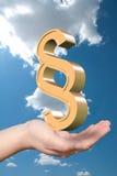 Simbolo dorato di paragrafo Immagine Stock Libera da Diritti