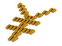 Simbolo dorato di Yen delle automobili Fotografie Stock