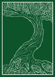 Simbolo ecologico con l'albero Immagini Stock