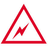 Simbolo elettrico Immagini Stock