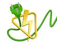 simbolo elettrico del renderign 3D Fotografia Stock