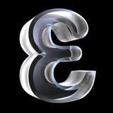 Simbolo epsilon in vetro (3d) Fotografie Stock