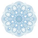 Simbolo etnico della mandala per il libro da colorare modello di terapia di Anti-sforzo ABS di vettore Fotografie Stock