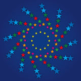 Simbolo europeo della bandiera Fotografia Stock Libera da Diritti