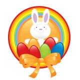 Simbolo felice di pasqua del coniglietto Immagine Stock