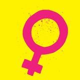 Simbolo femminile di genere Immagine Stock