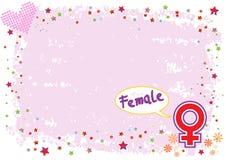 Simbolo femminile nell'illustrazione Colourful Fotografia Stock Libera da Diritti