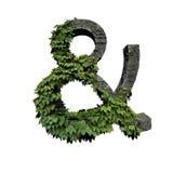 Simbolo fogliame/della pietra e illustrazione di stock