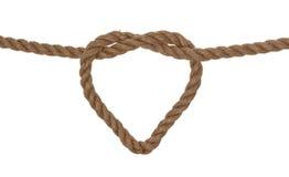 Simbolo a forma di del cuore della corda Immagine Stock
