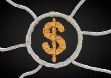 Simbolo futuristico del dollaro Fotografia Stock Libera da Diritti