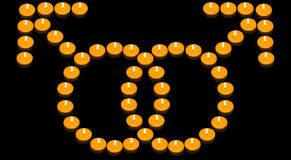 Simbolo gaio ardente Fotografie Stock Libere da Diritti
