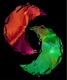 Simbolo, ghiaccio e fuoco di yin yang Immagini Stock