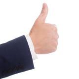 Simbolo giusto della mano Immagini Stock