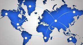 Simbolo globale della rete Fotografia Stock